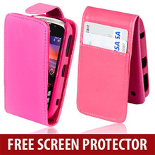 PU Leather Flip Vertical Case Cover For Blackberry Curve 9300