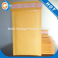 Custom gold kraft envelope with kraft bubble mailers padded mailing envelope bag