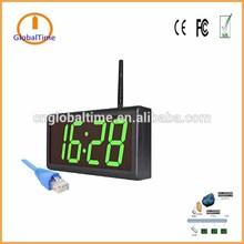 "4 digital 4"" Green synchronized time security clock systems use wifi Wall Clocks"