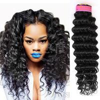 alibaba express 2014 new products virgin peruvin human deep wave hair products