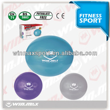 2014 hot sales Winmax brand 75cm PVC body building gym ball with handle