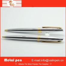 high quality shining chromed metal pen with customer logo