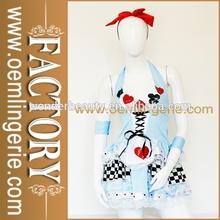 2014 New costume Pretty Blue Miss Alice In Wonderland Costume Girl Costumes