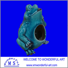 excellent stoneware frog shape chinese bird house