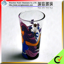 Hand Pressed Colored Drinking Glass Ware