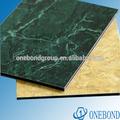mármol y granito recubrimiento de pvdf panel compuesto de aluminio para la decoración