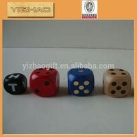 Wholesale Colorful Wooden Custom Dice,plastic dice