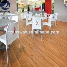 unlin click system 6''x36'' basketball flooring/pvc flooring china supplier