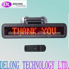 CE RoHS English red 7X48pixel p4.75mm indoor dot matrix 12volt led car message sign