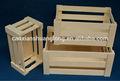 Nuevo diseño personalizado del medio ambiente sin terminar cajas de madera para frutas y verduras
