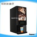3 caliente- selecciones instantánea café profesional de la máquina expendedora para servicio de comida de lugares