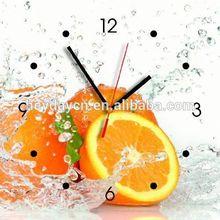 fruits & veggies wall resin clock