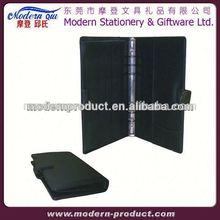 pu leather folder portfolio with calculator