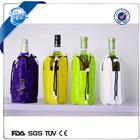 chiller outdoor promotional PVC Wine Bottle Cooler Bags gel bottle cool