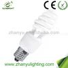 E27 Half sprial cfl light bulb with price