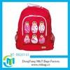 Cute red beautiful girl's shoulder backpack school bag for kids promotional