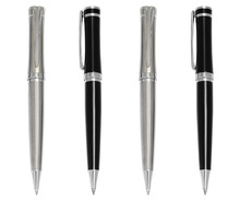 Silver and black twist promotional design ballpen from Most popular suppier in Alibaba