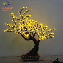 Shengjia LED Bonsai TREE fabric sequined beaded flower