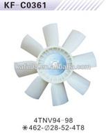 Yanmar 4TNV94 diesel engine cooling fan blade for excavator OEM Made in China