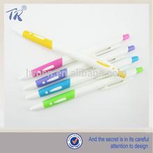 Plastic Material Soft Handle Side Click Ballpoint Pen