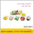 حار بيع مضحك لعبة طفل الحيوان 5pcs/bag oc0175611 رذاذ ماء الحمام