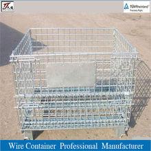 Industrial welded galvanized steel storage wire mesh cage