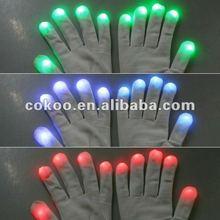 LED Flashing Finger Tip Gloves Rave Glow Flashing Lights Light Up Club DanceLED Flashing Finger Tip Gloves Rave Glow Flashing