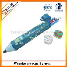 kids funny Pencil shape pencil case set stationery set