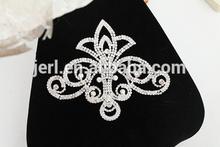 Charming rhinestone lace for wedding dress decoration