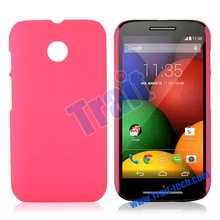 Brand New Solid Color Rubber Coated Plastic Case for Motorola Moto E