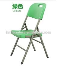 Caliente venta de luz verde color de plástico del banquete plegable ding silla con cubierta de la silla