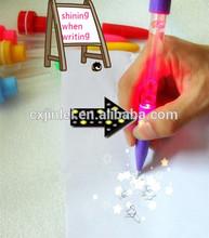 2014 good selling light projector pen for kids favor
