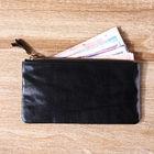 100% Italian top grain vegetable tanned leather wallet women clutch handbag fashion leather women black purse coin change case