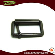 Custom black color metal side release buckle for bag