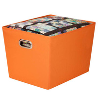 hot sell 100% non woven foldable fabric blanket storage box