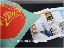 Cotton & Linen silk and transfer print noon nap pillow