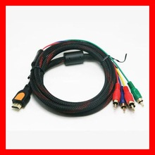 high quality HDMI to 5 RCA Video Component Cable 4FT Converter Support 4k*2K,1080p,3D,Ethernet