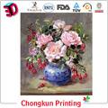3d fotos pintura a óleo de flores