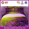 hot sale 3pcs polyester 3D disperse printed bed sheet set/ fabric