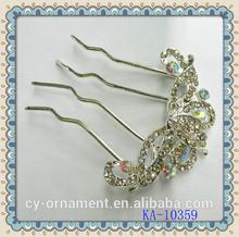 Bridal rhinestone wedding hair comb wholesale hair accessory