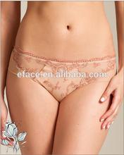 Elegant embroidery sheer tulle lace women panty boyshorts