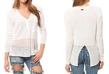Woman loose button up neck Blouse women 2015 blouse design