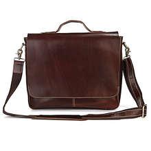 """New genuine Leather Men's Shoulder Bag Handbag Briefcase Laptop Bag 15"""""""
