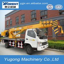 10 t caminhão montado hidráulico móvel lança hidráulica telescópica guindaste máquina