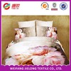 100% polyester microfiber bed sheet set with flower design fabric