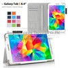Flip smart cover with Elastic hand strap case For Galaxy Tab S 8.4