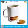 custom design or logo printed white ceramic cookie coffee cup