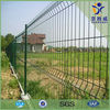 Triangle bended pvc coated galvanized garden fence panels prices,pvc fence for garden