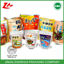 iso certificate kimchi packaging laminated with zipper bag lock for bags