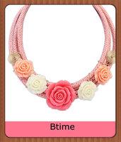 New Design Foam Material Flower Necklace